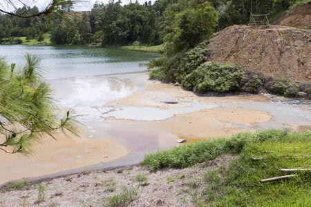 A sulfur lake in north Sulawesi, Indonesia