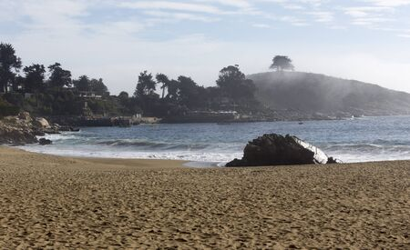 The beach of Zapallar at Zapallar, Chile