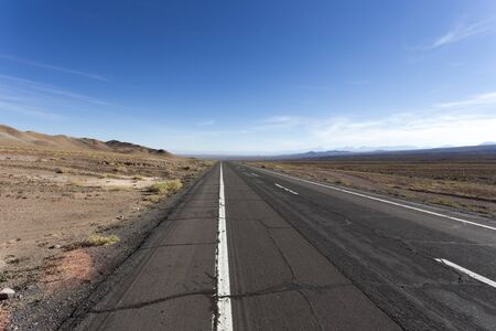The famous route 5, Panamericana, in Chile