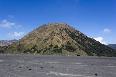 Arriving at Bromo volcano in Java island, Indonesia