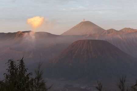 Sunrise in front of Bromo mountain, Indonesia
