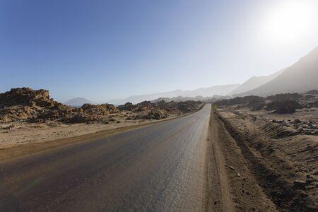 Arriving at Pan de Azucar national park in Chile 版權商用圖片