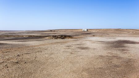 The skeleton coast desert solours and desolation, Namibia 版權商用圖片