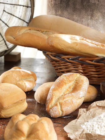 Bread on a rustic background
