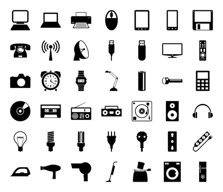 reflex camera: 42 icons that represent the most common technology in your home