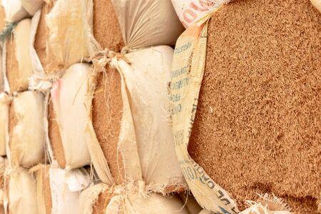 Rice hull, slide background