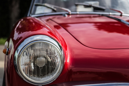 the splendor of the beautiful chrome of vintage cars