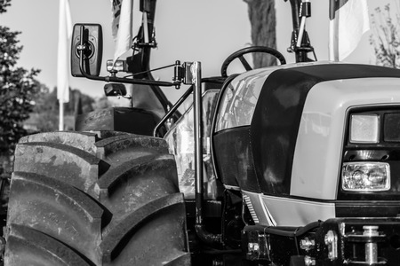 the workforce of the tractor That helps people in the country for a long time photo