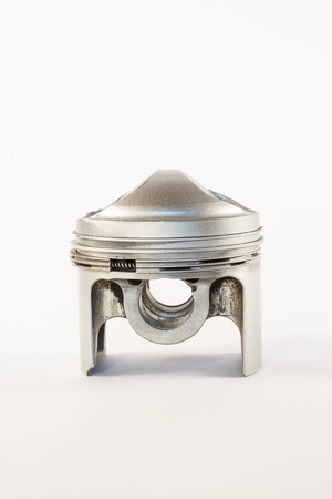 the silver piston of the combustion engine photo