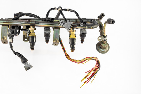the injection system of the engine photo