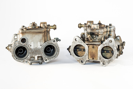 carburettor: the carburetor with its valves of the combustion engine