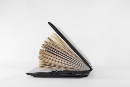 knowledge: Books and pc bring culture and knowledge to humanity