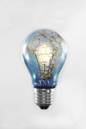 green light: Conserve energy for the preservation of the planet earth Stock Photo