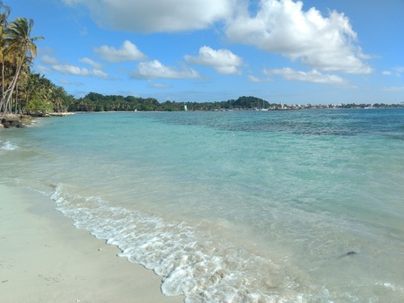 Beutifull Beach paradise in Guadeloupe South Caribbean Stok Fotoğraf