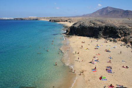 lanzarote: Een strand in Lanzarote, Canarische eilanden Zie mijn andere zomer shots