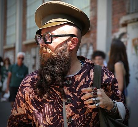 milánó: MILAN- 19 June 2017 Michael Pretolani on the street during the Milan Fashion Week Sajtókép