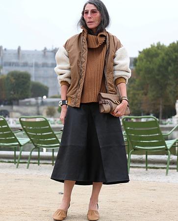 PARIS- 27 September 2017 Veronique Tristram on the street during the Paris Fashion Week