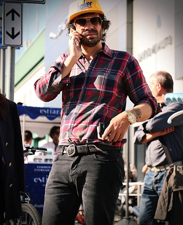 milánó: MILAN- 20 September 2017 Olivier Zahm on the street during the Milan Fashion Week