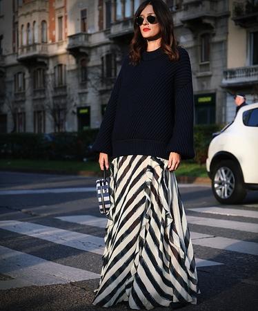 MILAN- 20 September 2017 Eleonora Carisi on the street during the Milan Fashion Week