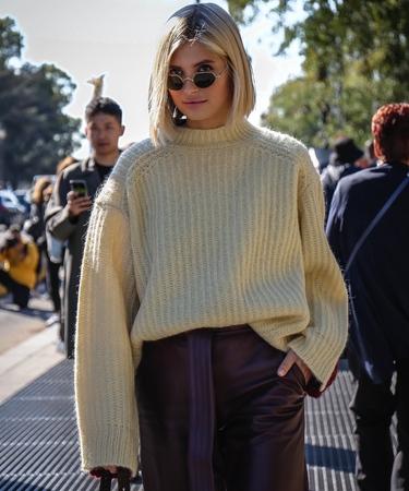 PARIS, France- September 26 2018: Xenia van der Woodsenseen on the street during the Paris Fashion Week