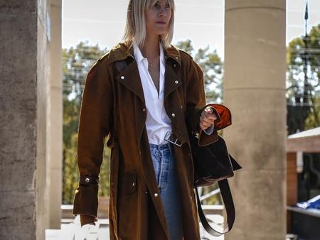 PARIS, France- September 26 2018: Linda Tol on the street during the Paris Fashion Week.