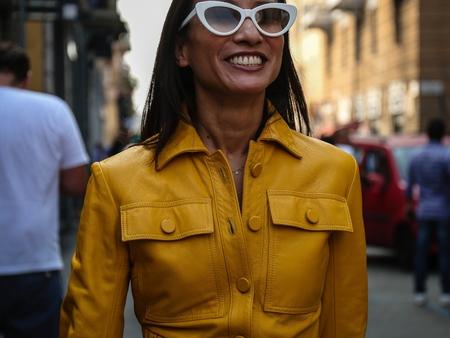 MILAN, Italy- September 19 2018: Women on the street during the Milan Fashion Week.
