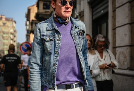 MILAN, Italy- September 19 2018: Ken Downing on the street during the Milan Fashion Week. Editorial