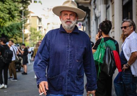 MILAN, Italy- September 19 2018: Robert Rabensteiner on the street during the Milan Fashion Week. Sajtókép