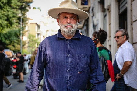 MILAN, Italy- September 19 2018: Robert Rabensteiner on the street during the Milan Fashion Week. Editorial