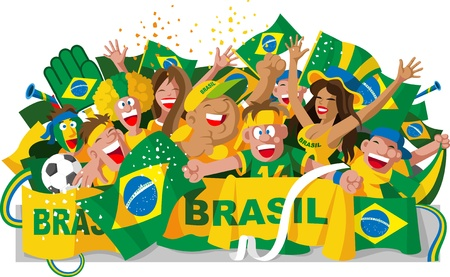 Brazilian fans Stock Vector - 21261199