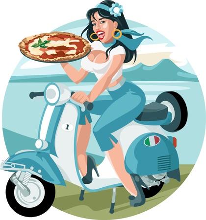ピザ女の子