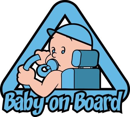 Baby on Board Illustration