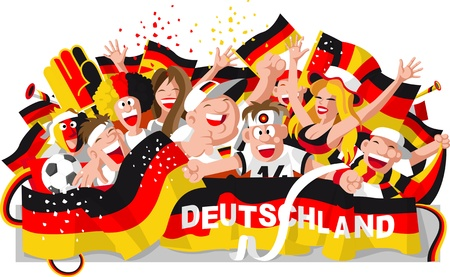 world cup: German Soccer Fans