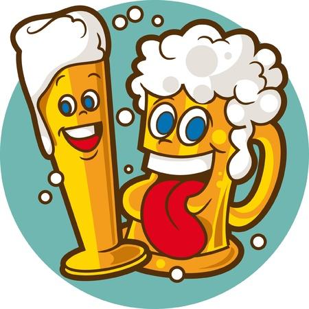 beer glass: Beer glasses