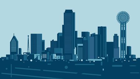 dallas: Dallas skyline Illustration