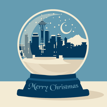 Merry Christmas Seattle Vector