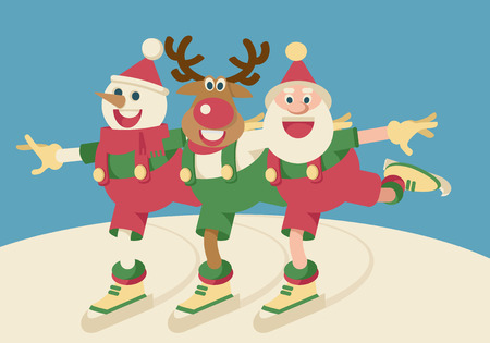 Santa and friends Illustration