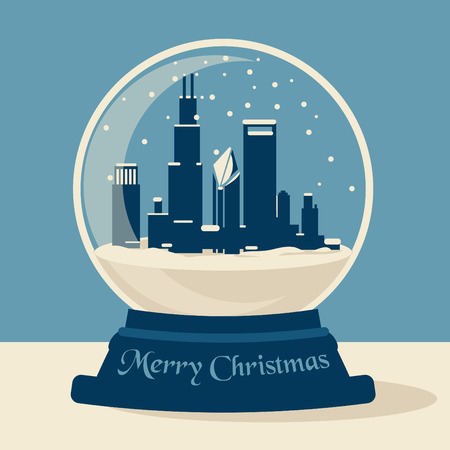 chicago skyline: Chicago Christmas Ball