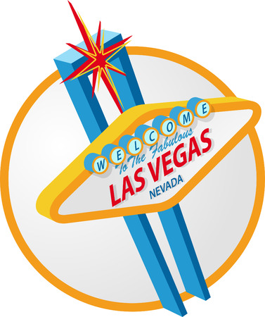 las vegas strip: Las vegas Sign Illustration