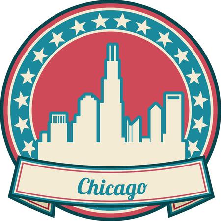 chicago: chicago skyline Illustration