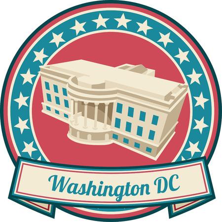 white house: washington dc Illustration