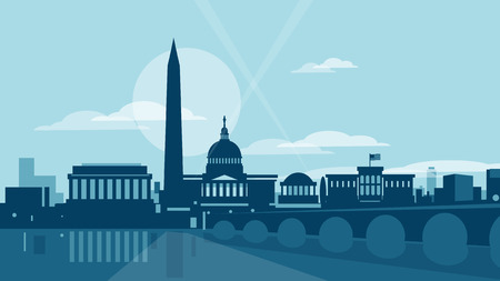 Washington skyline Illustration