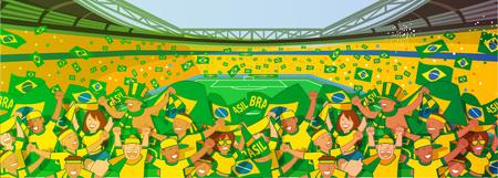 Brazil Soccer fans cheering