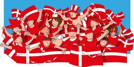 Denmark Soccer fans cheering