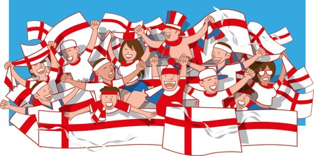 England Soccer fans cheering