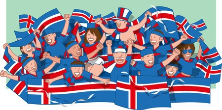 Iceland Soccer fans cheering