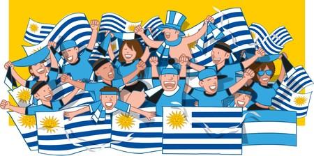 Uruguay Soccer fans cheering