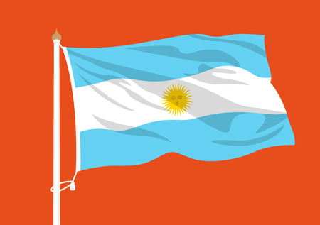 Argentina flag waving Illustration