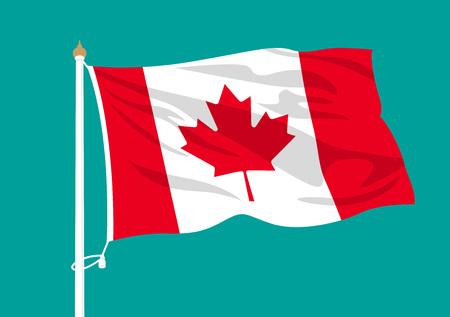 Canada flag waving Illustration