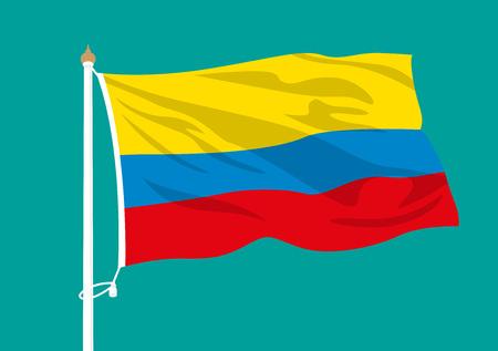 Colombia flag waving Foto de archivo - 102253478